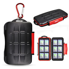 Water-Resistant Memory Card Holder Storage Case Box fit 12 SD SDHC SDXC Cards