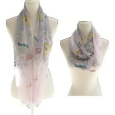 New Womens Infinity Scarf Pink Grey Light Lightweight Loop Snood Cowl