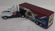 NHL 2000 Colorado Avalanche Truck Trailer Metal Die Cast Scale 1:80