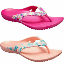 Womens Girls Crocs Kadee ll Flip Flop Toe-Post Lightweight 2 Colours UK3,
