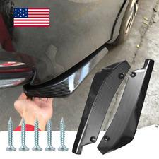 Car Carbon Fiber Rear Bumper Lip Diffuser Splitter Canard Protector Top Seller