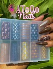 Foil Nail Art Transfer Sticker Set 10 Pieces