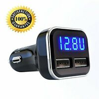 Jebsens 4.8A Dual USB Car Charger Volt Meter Car Battery Monitor 24W