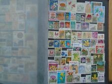 Flowers. Worldwide Private collection. 74 different stamps. Some high Values.