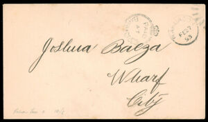 BARBADOS 1893 (FEB. 27) CROWNED CIRCLE HANDSTAMP USED AS ½p ON LOCAL COVER provi
