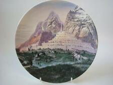 WEDGWOOD THE LORD OF THE RINGS PLATE DAWN AT MINAS TIRITH