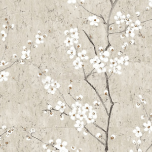 Floral Sakura Pale Gold Cherry Blossom Floral Wallpaper 102957 - Open Roll