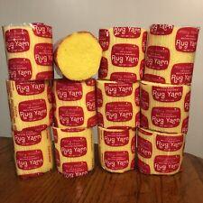New Old Stock Lot 12 Mary Maxim Pre Cut Latch Hook Yarn Sunny Yellow