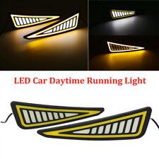 2PCS DRL LED Universal Car Daytime Running Light Driving Turn Signal Fog Lamp