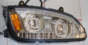 DNA LED Chrome Headlight Assembly RH for 08-19 Kenworth T170 T270 T370 T660