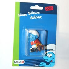 Smurfs - BENCH WARMER Football Smurf (Schleich 21018) *Re-Release* Carded NEW