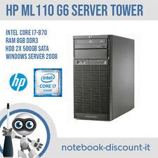 HP ProLiant ML110 G6 CPU Core i7-870 Ram 8gb DDR3 HDD 2x 500gb SATA Server Tower