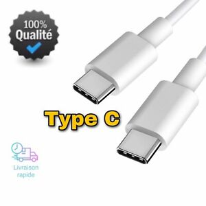 Câble USB Type C vers Type C Chargeur Rapid 1m pour Samsung S9/A8/A9/20Ultra 12W