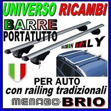 Barre Portatutto Menabo BRIO 120 SUZUKI Sx4  dal 2006> con  Barre Longitudinali