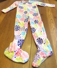 * $48 Girls Size 110 4 5 6 Hanna Andersson Pink Blanket Sleeper Footed Pajamas