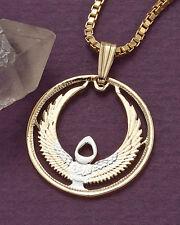 "Egypt Pendant & Necklace, Egypt Coin hand Cut 3/4"" diameter ( # 873  )"