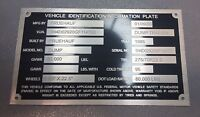 CAR-MATE Kaufman ELITE Take Two Serial Model Number & Custom Engraved! Plate Tag