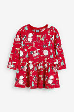 Next  Girls Red Christmas Dress  Age 3-4 Years BNWT