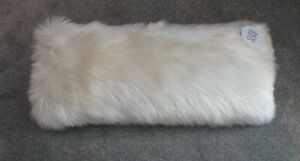 Cozee Home Faux Fur Bolster Cushion Ivory New