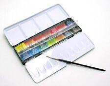 Sennelier l'aquarelle Artisti Acquerello 14 COMPLETA / intero PAN METAL BOX SET