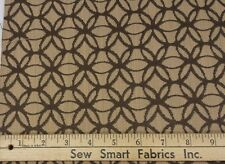 "Poly & Cotton Blend Upholstery, Brown Geometric: 57"" W, 3 yd. piece, Can CTO"
