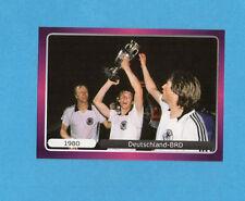 PANINI-EURO 2012-Figurina n.524- ESULTANZA - GERMANIA 1980 -NEW-DARK BOARD