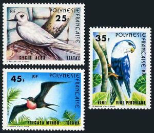 French Polynesia 337-339,MNH.Birds.Sea-swallow,Henparrot,Minor frigate-bird,1980