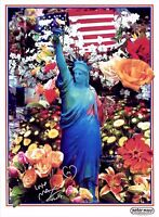 PETER MAX POSTER -LIBERTY FLOWERS-COOL AND COLORFUL-FACSIMILE SIGNED CT#