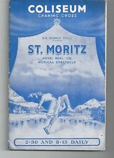 COLISEUM CHARING CROSS ST MORITZ REAL ICE MUSICAL SPECTACULAR PROGRAMME