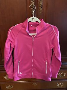 Adidas size small pink Zip Up