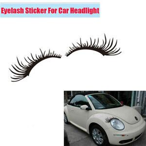 1Pair Waterproof Black Eyelash Vinyl Decal Sticker For Car Headlight Fog Light