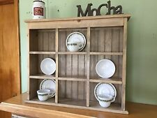 Tea Cup and Saucer Plate Rack and Kitchen Display Shelf 9 Section Holder