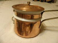 Vintage copper 1 1/2 quart double boiler, hasn't ever been used