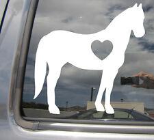 Quarter Horse Love Heart Silhouette - Car Vinyl Die-Cut Decal Sticker 01004