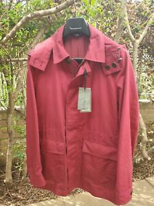 Gieves & Hawkes No1 Savile Row London Coat with Hood Size M Cotton Silk