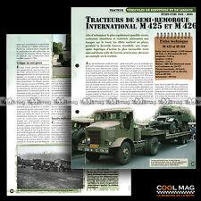 #vm008.09 ★ TRACTEUR INTERNATIONAL M 425 & M 426 WW2 ★ Fiche Véhicule Militaire