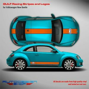 GULF Le Mans Racing Stripes kit and logos for VW New Beetle