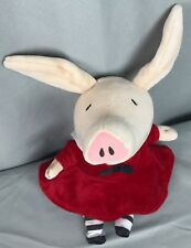 """Merrymakers Olivia the Pig 12"""" Doll Red Black White Sailor Dress Plush Stuffed"""