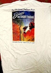 DELTA BLUES T-SHIRT: SUNFLOWER RIVER BLUES & GOSPEL FESTIVAL Clarksdale, MS 2000