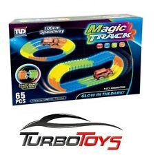 MAGIC TRACK - GLOW IN THE DARK - 100CM TRACK 65PC WITH 1 CAR - STARTER KIT - AUS