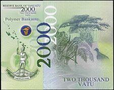 Vanuatu 2000 Vatu 2014 UNC - Polymer (hand signed, only 200 issue) w/folder