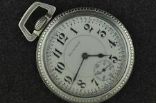 VINTAGE 16S SOUTH BEND 21J POCKET WATCH GRADE 227 FROM 1913 RUNNING