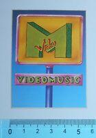 ADESIVO STICKER VINTAGE AUTOCOLLANT AUFKLEBER MTV VIDEOMUSIC ANNI'80 5x7 cm