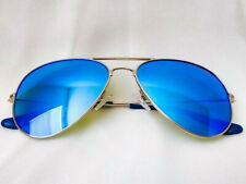Moni Shades – Baby Blue Lens Aviator Sunglasses with Polarized, Mirrored Lenses