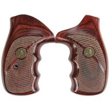 Pachmayr 63040 Revolver Grip Wood Laminate For S&W N Frame Checkered Rosewood