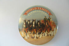 original World Famous Clydesdales budweiser beer co advertising old button pin