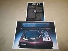 Pioneer PL-570 Turntable Ad, 1977, 3 pgs, Article, RARE