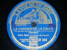 FRANCE 78 rpm RECORD VsA SOFIA NOEL Sammy de Jamaica / La canción de la calle