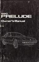 Original 1990 Honda Prelude Owners Manual OEM Owner Guide Book Si SR