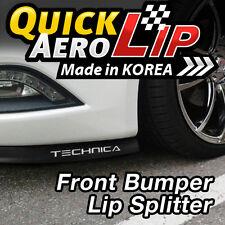 7.5 Feet Bumper Spoiler Chin Lip Splitter Valence Trim Body Kit for Car Sedan
